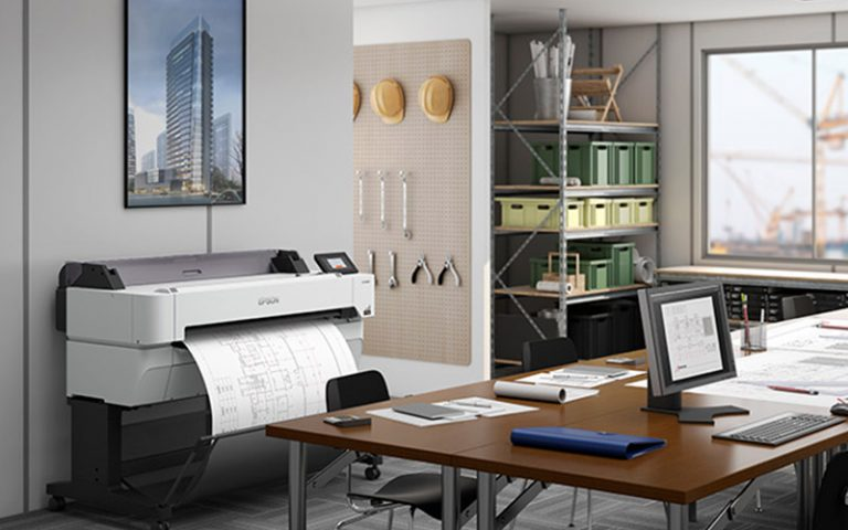 Epson Wide Format Printer in construction office